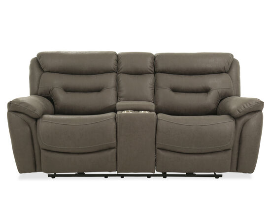 """Power Reclining Casual 82"""" Loveseat in Gray"""