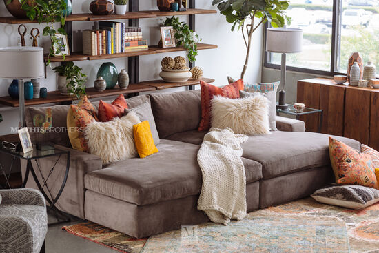 Two-Piece Contemporary Sectional in Truffle