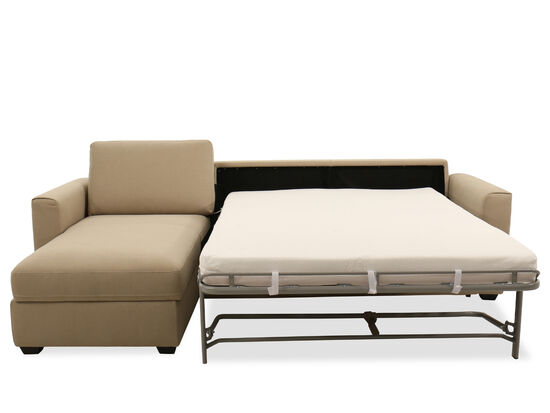 """107"""" Casual Storage Sleeper Sectional in Brown"""