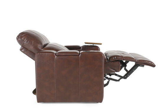 Traditional Home Theater Power Recliner in Brown