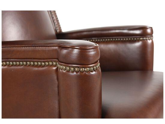 Leather Nailhead Trimmed Executive Swivel Tilt Chairin Rich Brown