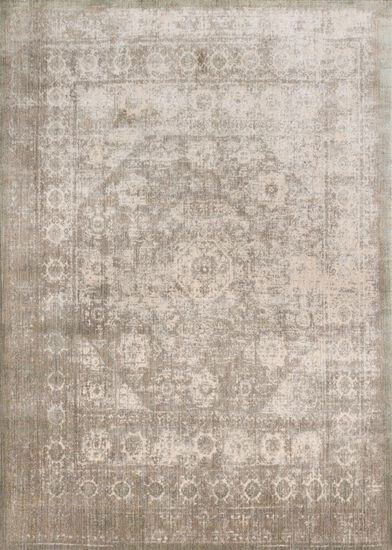 "Transitional 2'-7""x8'-0"" Rug in Grey/Sage"