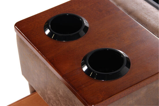 """Contemporary 15.5"""" Storage Console in Brown"""