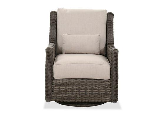 Contemporary Woven Patio Swivel Glider Chair in Dark Gray