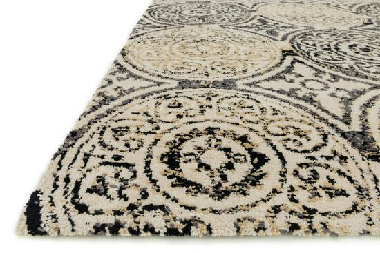 Transitional Rug in Black/Gold