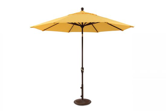 Contemporary Aluminum Push Tilt Umbrella in Banana