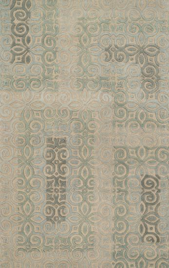 "Transitional 5'-0""x7'-6"" Rug in Beige/Mist"