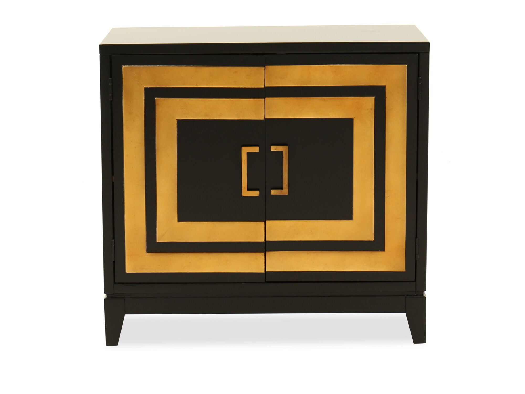Contemporary Two Door Accent Chest In Dark Brown