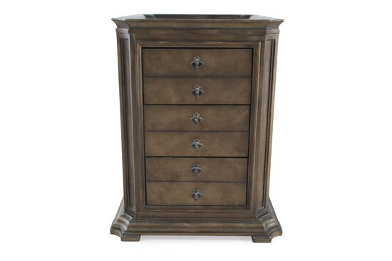 Solid Radiata Pine Three-Drawer End Table in Vintage Melange