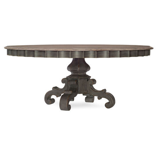 "Arabella 72"" Round Pedestal Dining Table in Gray"