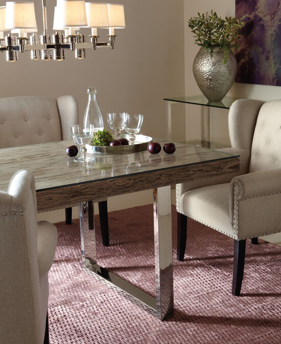 Bernhardt Interiors Henley Glass Dining Table