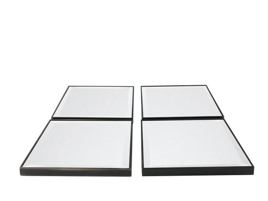 Transitional Four-Piece Mirror Set in Gray