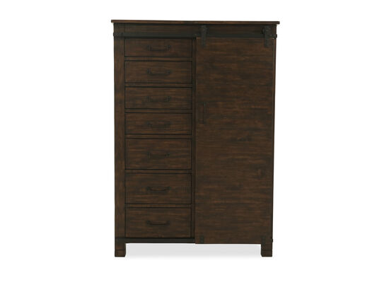 "66"" Transitional Hanging Door Chest in Rustic Pine"