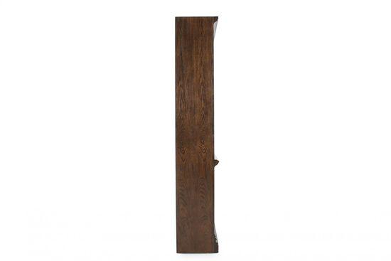 Traditional Adjustable Shelf Open Bookcase in Dark Brown