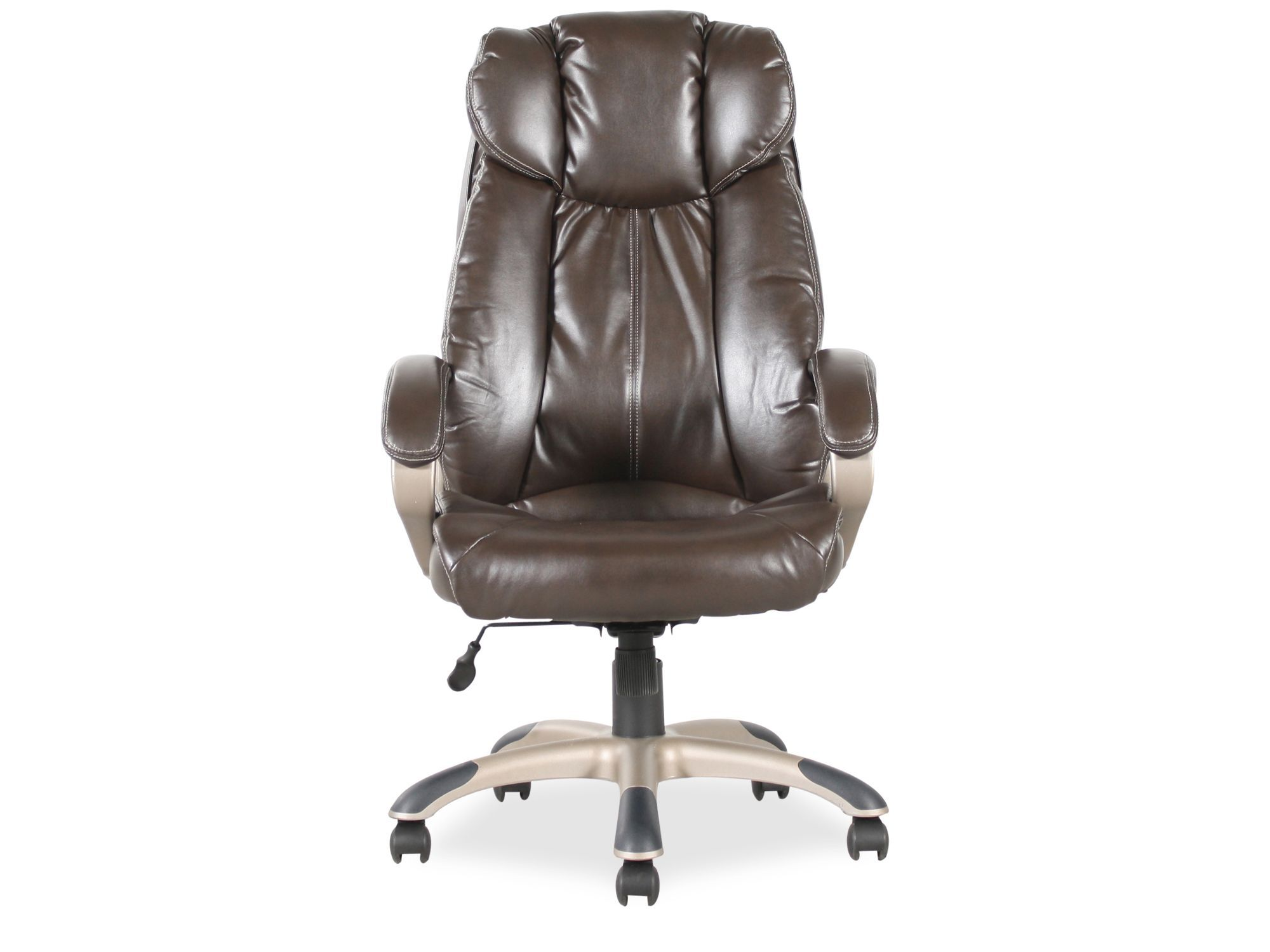 Pleated Leather Executive Swivel Tilt Chairu0026nbsp ...