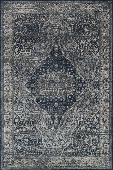 "Transitional 2'-7""x4' Rug in Grey/Midnight"