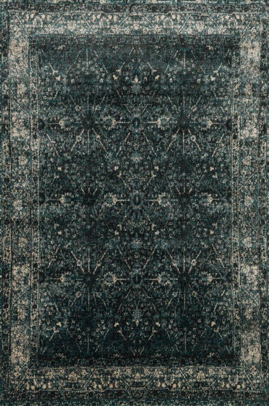 """Transitional 2'-3""""x3'-9"""" Rug in Peacock/Slate"""