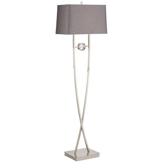 Wishbone Lamp in Clear Silver