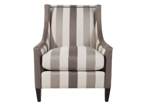 Nailhead Accented Striped Chair