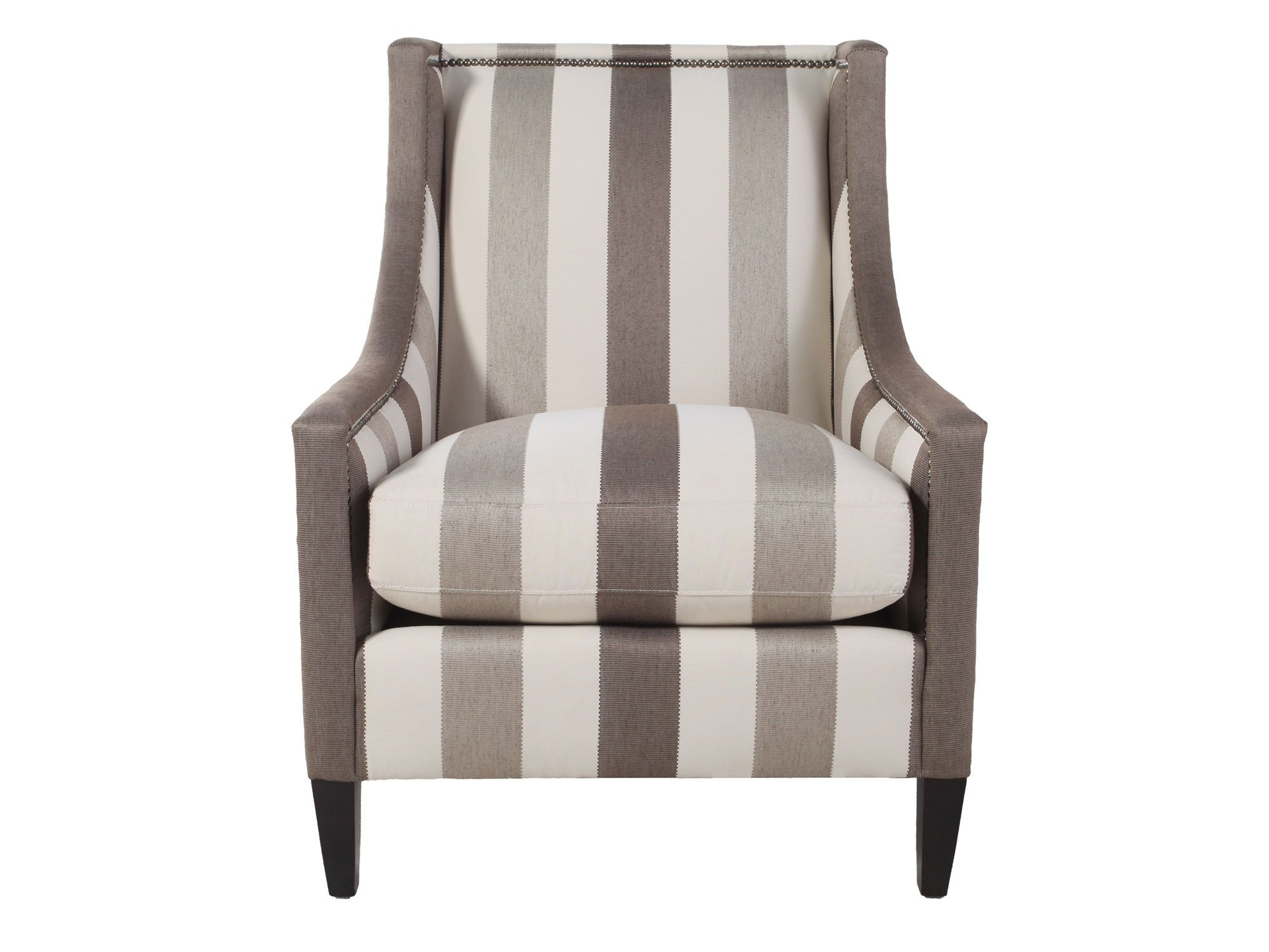 Images Nailhead Accented Striped Chair Nailhead Accented Striped Chair
