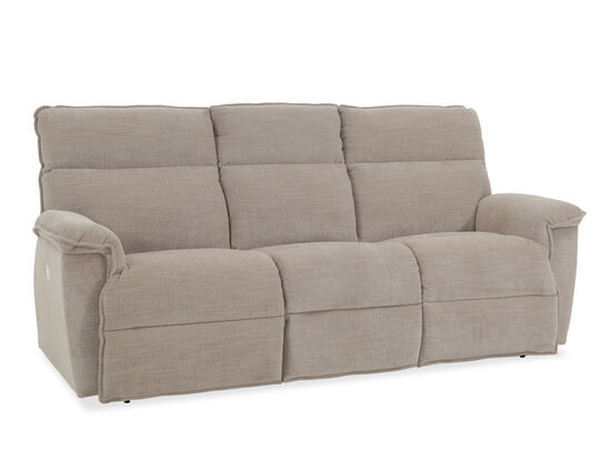 """Casual 86.5"""" Power Reclining Sofa with USB Port in Barley"""