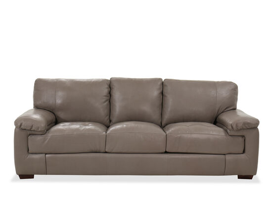 Casual Leather Sofa In Pebble Gray