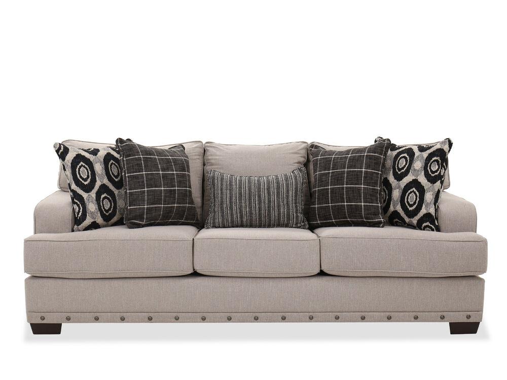 Contemporary 90 Sofa In Linen Mathis