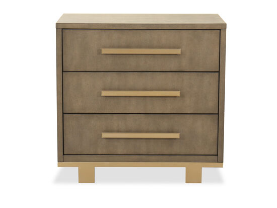"Traditional 29"" Three-Drawer Nightstand in Dark Brown"