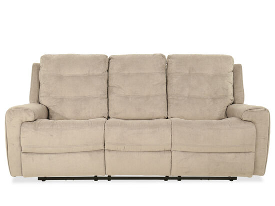 Casual Power Reclining Sofa in Stone