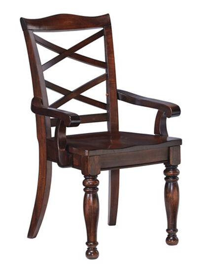 """X-Back 20"""" Dining Room Arm Chairin Rustic Brown"""