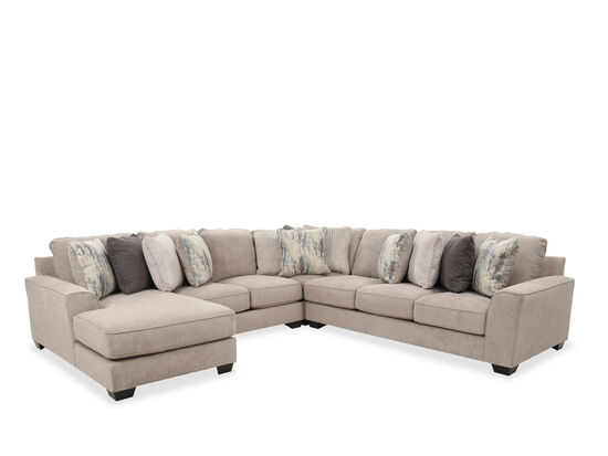 Four-Piece Contemporary Sectional in Pewter
