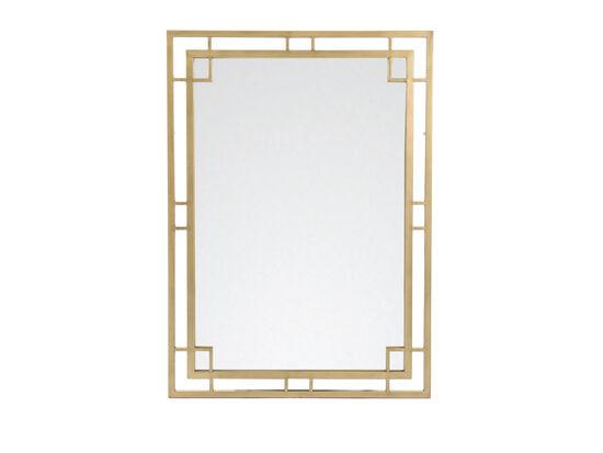 "38"" Traditional Rectangular Mirror in Bronze"