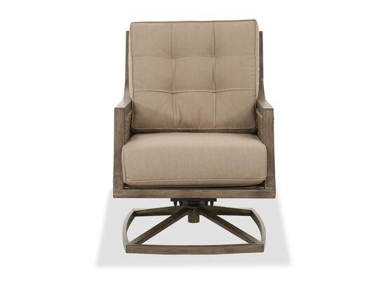 Casual Swivel Rocker Chair in Brown