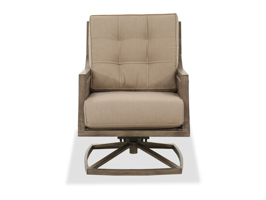 Casual Swivel Rocker Chair in Brown