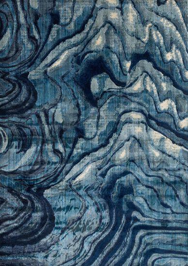 "Contemporary 7'-10""x11'-0"" Rug in Indigo/Blue"