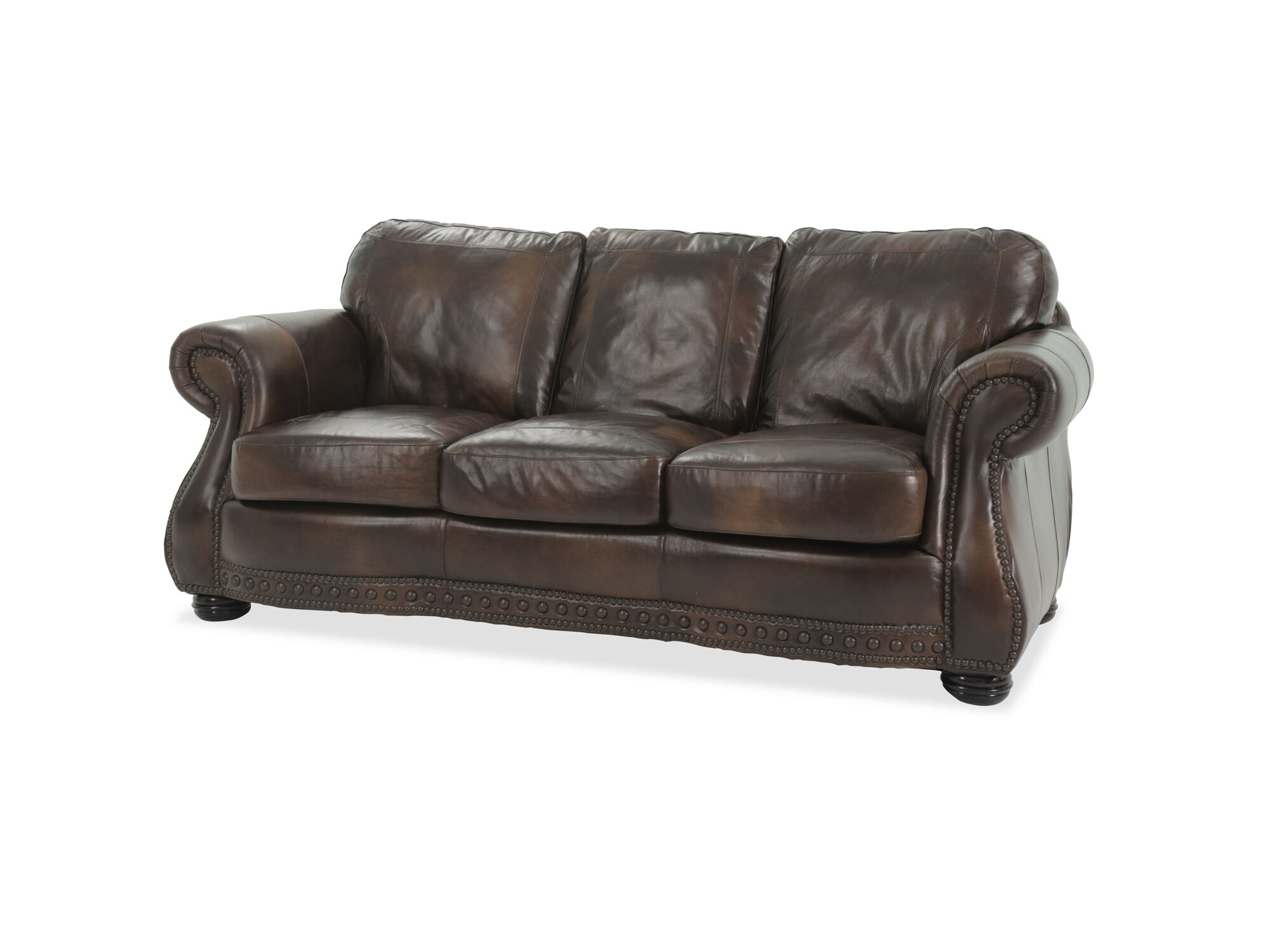 Covered By Luxurious 100% Top Grain Leather In A Rich, Glossy Medium Brown,  Itu0027s A Stylish Way To Add Comfort To Any Room.