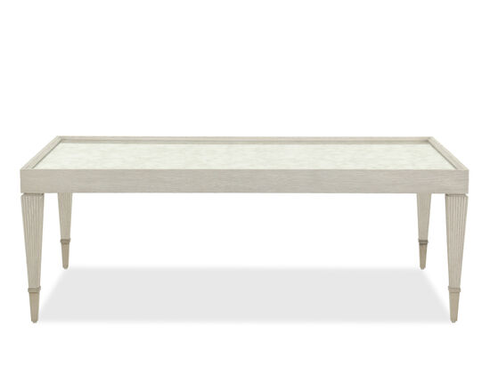 Two-Shelf Traditional Cocktail Table in Dove White