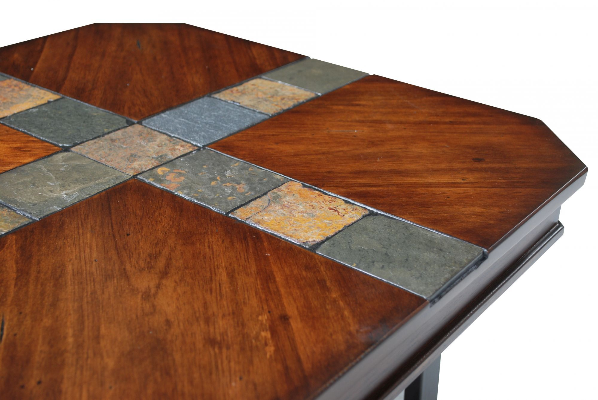 Three Piece Coffee Table Set In Brown