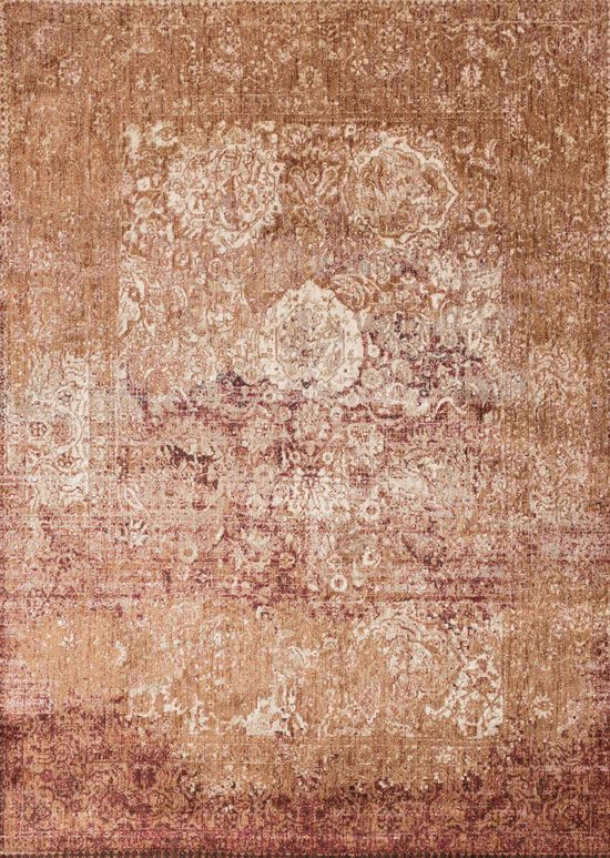 "Transitional 2'-7""x8'-0"" Rug in Copper/Ivory"