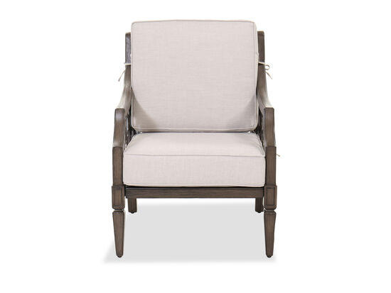 Traditional Patio Club Chair in Brown