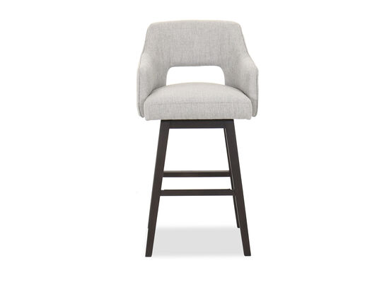 Casual Swivel Counter Stool in Gray