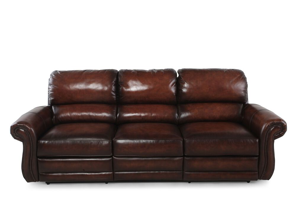 Groovy Leather Wall Saver Reclining Sofa In Brown Mathis Brothers Andrewgaddart Wooden Chair Designs For Living Room Andrewgaddartcom