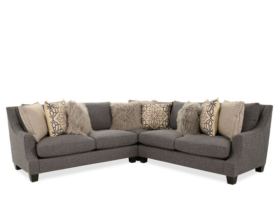 Three-Piece Casual Sectional in Heathered Gray