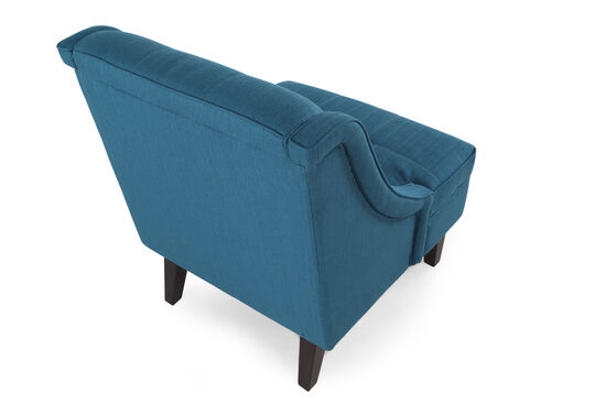 """Tufted Contemporary 28"""" Accent Chair in Teal"""