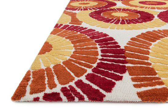 Contemporary Rug in Spice/Multi