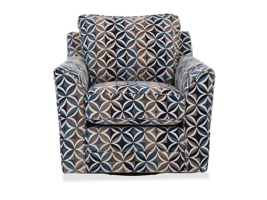Contemporary Patterned Swivel Chair