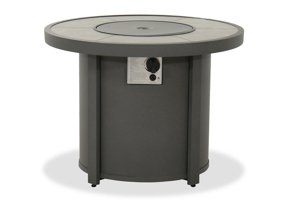 """Contemporary Round 32"""" Fire Pit Table in Gray"""