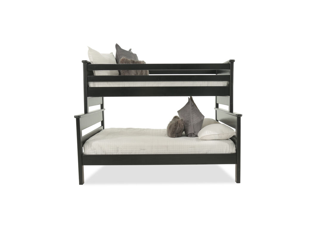 Transitional Youth Twin Over Full Bunk Bed in Cherry Black | Mathis ...