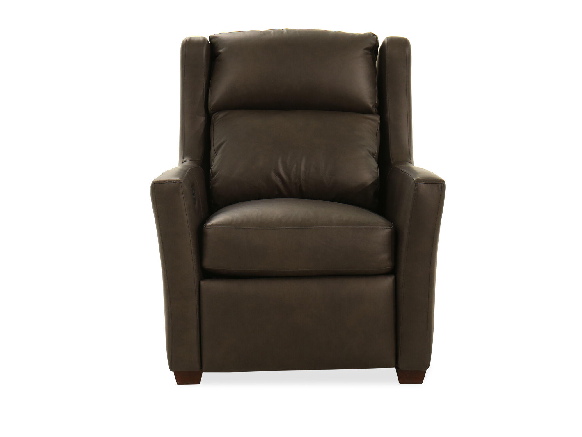 Leather 33 Quot Power Recliner In Dark Grey Mathis Brothers