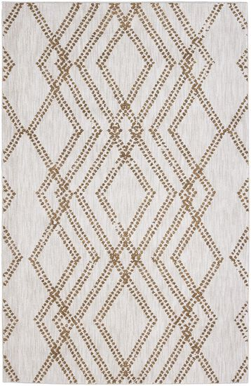 "Contemporary 2' 4""x7' 10"" Woven Rectangle Rug in Antique White"